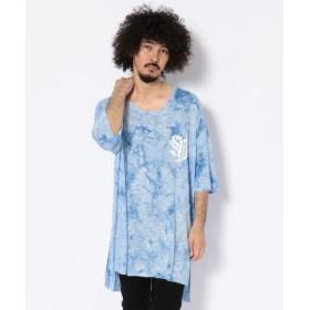 (RoyalFlash/ロイヤルフラッシュ)SWITCHBLADE/スイッチブレード/LIGHT SHINE DYEING TEE/ライト シャインダイイング Tシャツ/メンズ BLUE 送料無料
