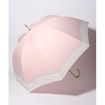 (pink trick/ピンクトリック)BE SUNNY ビーサニー 深張ジャンプ傘 長傘 フラワークラウン (晴雨兼用 UVカット 紫外線カット 耐風 軽量 撥水)/レディース ピンク