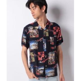 (SPENDY'S Store/スペンディーズストア)レーヨンアロハシャツ(総柄)/メンズ ネイビー系