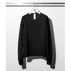 (SHIFFON/SHIFFON)C DIEM(カルペディエム) 度詰め天竺ロングTシャツ/メンズ ブラック 送料無料