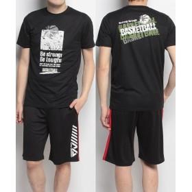 (SPORTS AUTHORITY/販売主:スポーツオーソリティ)エスエーギア/メンズ/半袖グラフィックTEE BE STRONG/メンズ ブラック