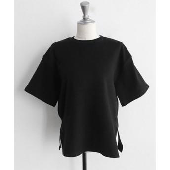 (3rd Spring/サードスプリング)NANING9(ナンニング)コットン無地Tシャツ/レディース ブラック
