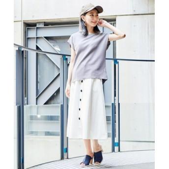 (Girly Doll/ガーリードール)カットソーシャツ/レディース 【Uネック】グレー