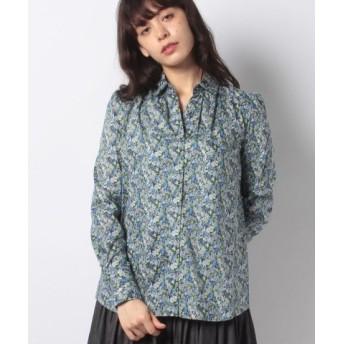 (OLD ENGLAND/オールドイングランド)リバティーフラワープリントシャツ/レディース ブルー 送料無料