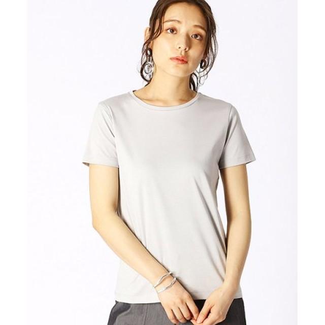(COMME CA ISM/コムサイズム)ベーシック 半袖 Tシャツ/レディース ライトグレー