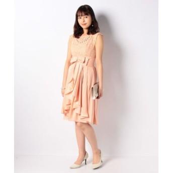 (Eimy Pearl by POWDER SUGAR/エイミーパール バイ パウダーシュガー)パールネックレス付きドレス/レディース ピンク