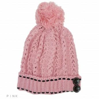ニット帽 - アクセサリーショップPIENA 帽子 ニット帽 ボンボン ケーブル ニットキャップ ワッチ レディース キーズ Keys プレゼント