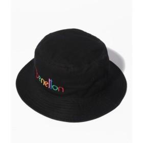 (BENETTON (UNITED COLORS OF BENETTON)/ベネトン(ユナイテッド カラーズ オブ ベネトン))ベネトンマルチロゴハット・帽子/レディース ブラック