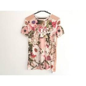 【中古】 トリーバーチ TORY BURCH 半袖Tシャツ サイズS レディース ピンク マルチ 花柄