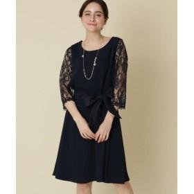 (Couture Brooch/クチュールブローチ)【WEB限定販売(LLサイズ)】Mint Souffle レーシーワンピース/レディース ネイビー(093) 送料無料