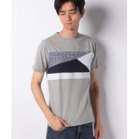 (ikka/イッカ)ニット切り替えクルーネックTシャツ/メンズ ミディアムグレー