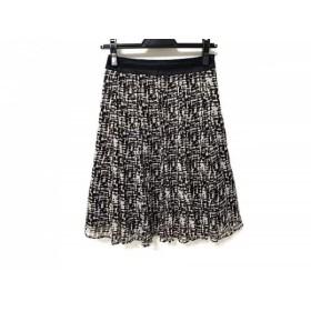 【中古】 ニジュウサンク スカート サイズ30 XS レディース 美品 黒 白 vingt-trois arrondissements