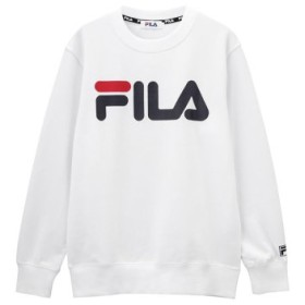 (MAC HOUSE/マックハウス)FILA フィラ ロゴプリントトレーナー FL1646/レディース ホワイト
