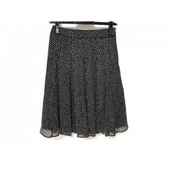 【中古】 ニジュウサンク 23区 スカート サイズ30 XS レディース 美品 黒 白