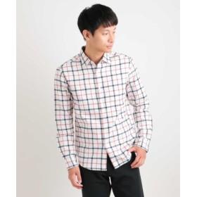 (a.v.v/アー・ヴェ・ヴェ)チェックキモウシャツ[WEB限定サイズ]/メンズ ホワイト