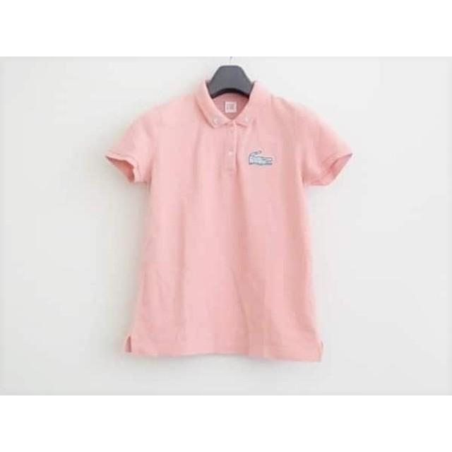 【中古】 ラコステ Lacoste 半袖ポロシャツ サイズL レディース ピンク LIVE/ビーズ