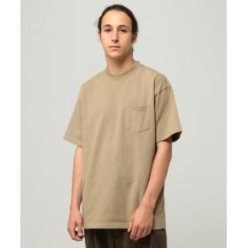 (BEAMS MEN/ビームス メン)BEAMS/ハイゲージ ルーズポケットTシャツ/メンズ OLIVE/OD