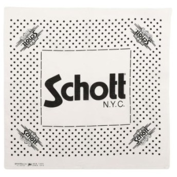 (Schott/ショット)Schott/ショット/COTTON BANDANA POLKA DOTS/バンダナ ポルカドット/メンズ WHITE