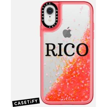 CASETiFY iPhone XR ケース 名前入りキラキラ ケース イニシャルグリッターケース ケース 名前 ケース 名前 入り