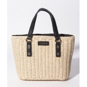 (LA BAGAGERIE/ラ バガジェリー)バッグインバッグ付きペーパーかごバッグSサイズ/レディース アイボリー