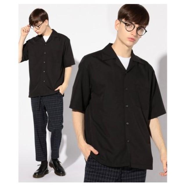 (Men's Bigi/メンズビギ)オープンカラーシャツ/開襟シャツ/メンズ ブラック