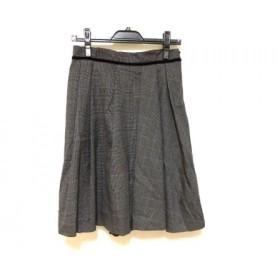 【中古】 ボディドレッシングデラックス スカート サイズ38 M レディース 新品同様 黒 白 ダークグレー