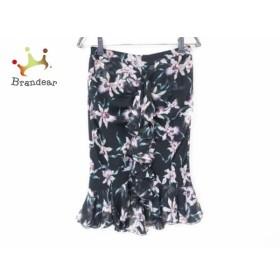 エポカ EPOCA スカート サイズ38 M レディース 美品 黒×パープル×グリーン 花柄   スペシャル特価 20190819