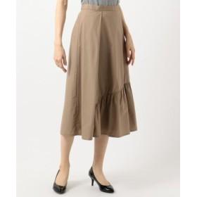 (Feroux/フェルゥ)マーメイドタイプライター スカート/レディース キャメル系