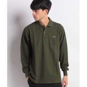 (LACOSTE/ラコステ)定番長袖杢糸ポロシャツ(長袖)/メンズ カーキ 送料無料