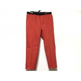 【中古】 ニジュウサンク 23区 パンツ サイズ40 M レディース 美品 レッド 黒