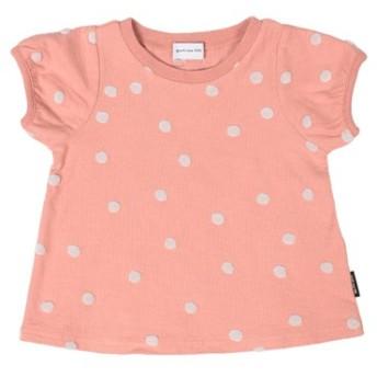 (COMECHATTO & CLOSET/カムチャットアンドクロゼット)ポコポコドットJQテンジクパフスリーブTシャツ/レディース ピンク