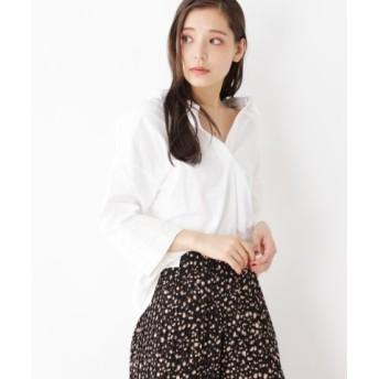 (grove/グローブ)バックリボンゆったりシャツ/レディース アイボリー(004)