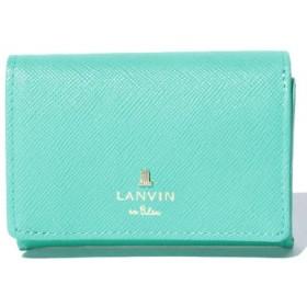 (LANVIN en Bleu(BAG)/ランバンオンブルー(バッグ))リュクサンブールカラー 3つ折り財布/レディース グリーン