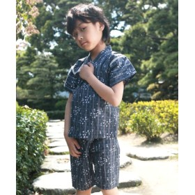 (Little Princess/リトルプリンセス)子供甚平/レディース 千鳥