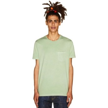 (BENETTON (UNITED COLORS OF BENETTON)/ベネトン(ユナイテッド カラーズ オブ ベネトン))製品染めポケットTシャツ・カットソー/メンズ ライトグリーン