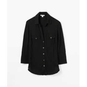 (TOMORROWLAND/トゥモローランド)サイドパネルシャツ WUA3042/レディース ブラック
