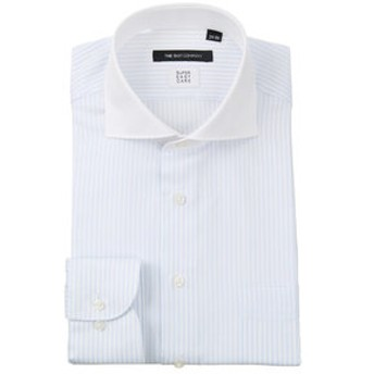 【THE SUIT COMPANY:トップス】【COOL MAX】クレリック&ホリゾンタルカラードレスシャツ ストライプ 〔EC・BASIC〕