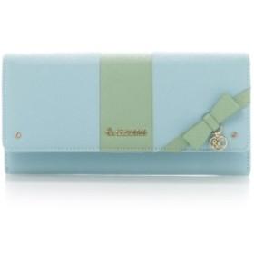 (& chouette/アンドシュエット)パステルリボンかぶせ財布/レディース ライトブルー