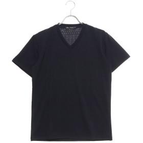 スタイルブロック STYLEBLOCK フクレジャガードオルティガ柄VネックTシャツ (ネイビー)