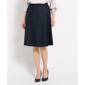 (SunaUna/スーナウーナ)【洗える】淡色カラーフレアスカート/レディース ネイビー(093) 送料無料