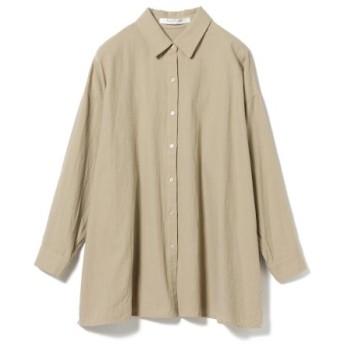 Ray BEAMS サイドスリット ビッグシャツ