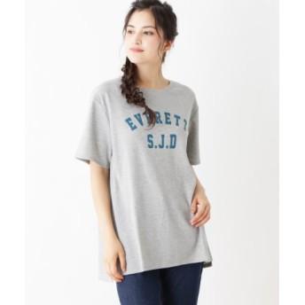 (SHOO・LA・RUE/シューラルー)ワッフルロゴワンピース/レディース グレー(012)