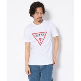 (LHP/エルエイチピー)GUESS/ゲス/トライアングルロゴプリントTシャツ/メンズ WHITE
