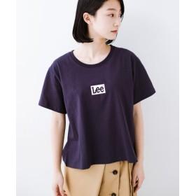 (haco!/ハコ)別注Lee ボックスロゴTシャツ/レディース ネイビー