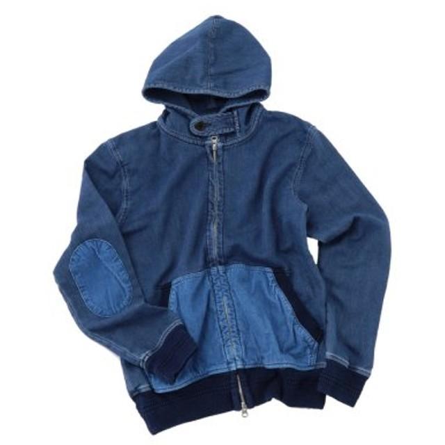 (Men's Bigi/メンズビギ)エルボーパッチインディゴパーカー/メンズ ブルー 送料無料