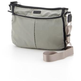 50%OFF Y'SACCS(bag) (イザック(バック)) ナイロン×レザーナイロンショルダーLサイズ グレー