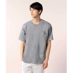 (FREDY & GLOSTER/フレディアンドグロスター)袖口刺繍ポケットTシャツ/ユニセックス ミディアムグレー