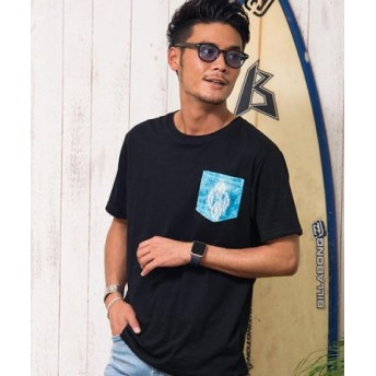 (SILVER BULLET/シルバーバレット)CavariA【キャバリア】ポケットプリントザインクルーネック半袖Tシャツ/メンズ ブラック系4