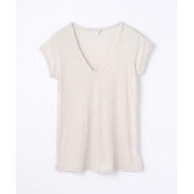 (TOMORROWLAND/トゥモローランド)ハイゲージ Vネック Tシャツ WEK3182/レディース 81シルバー 送料無料