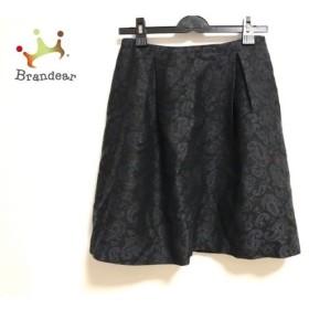 トゥモローランド TOMORROWLAND スカート サイズ38 M レディース 黒×ダークブラウン×ブルー   スペシャル特価 20190820